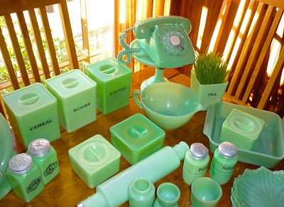 Good Things by David Collecting Jadeite is part of Green glassware -