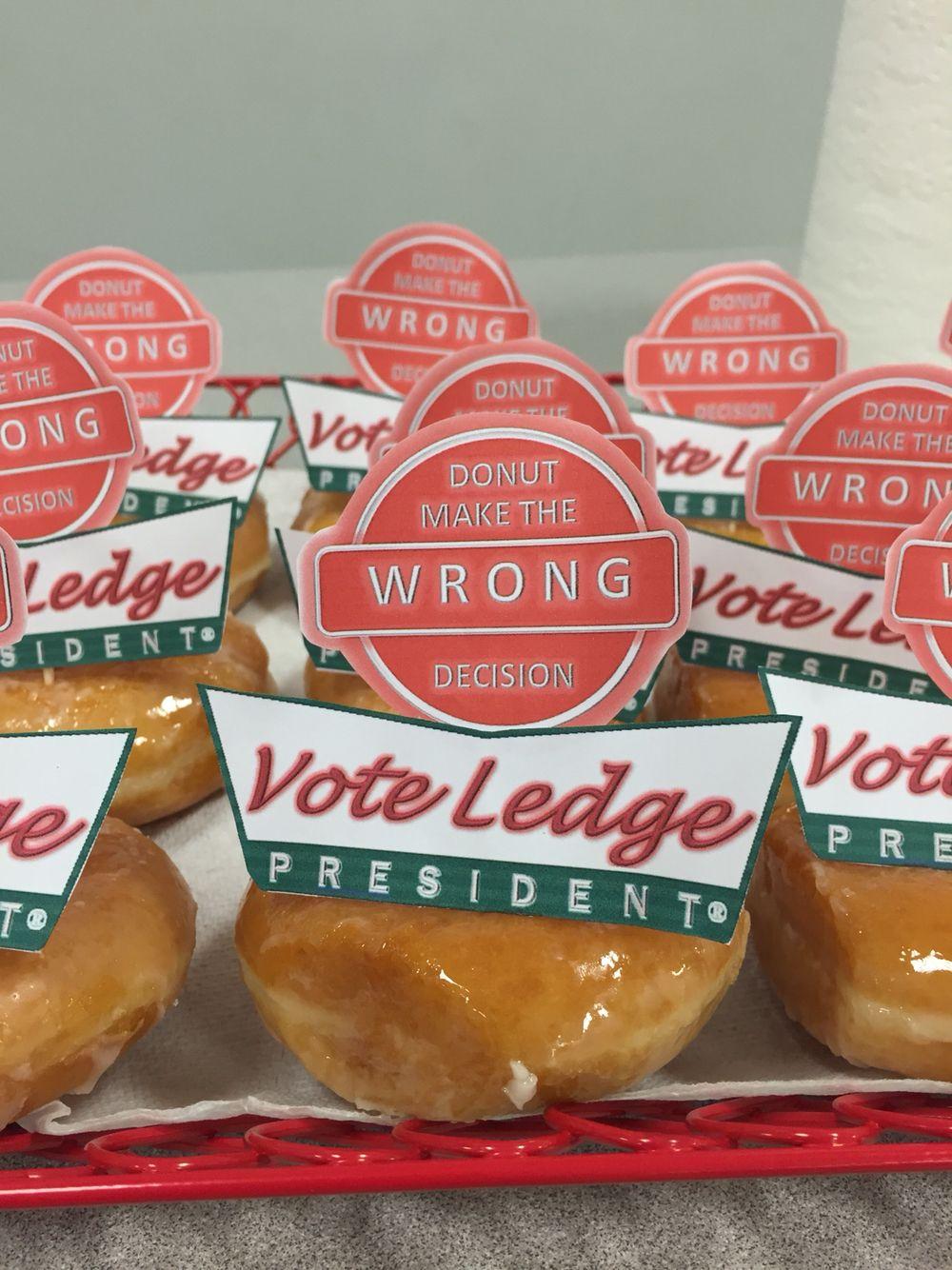 Class president campaign idea! #krispykreme #creative #donuts ...