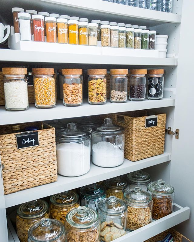 Pin for Later: 20 Brilliant Organizational Hacks Just in Time For Spring Cleaning Get Rid of Ugly Product Packaging to Elevate Your Pantry