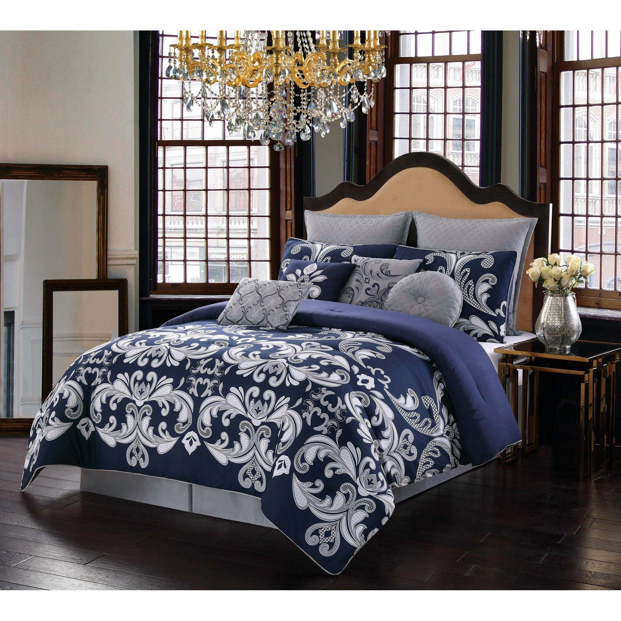 Style 212 Dolce Comforter Set Silver Comforter Sets King