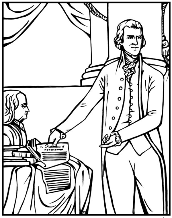 Thomas Jefferson Louisiana Purchase Coloring Page CC C3 W6