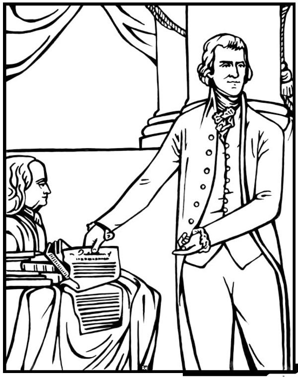 Thomas Jefferson Louisiana Purchase Coloring Page CC C3 W6