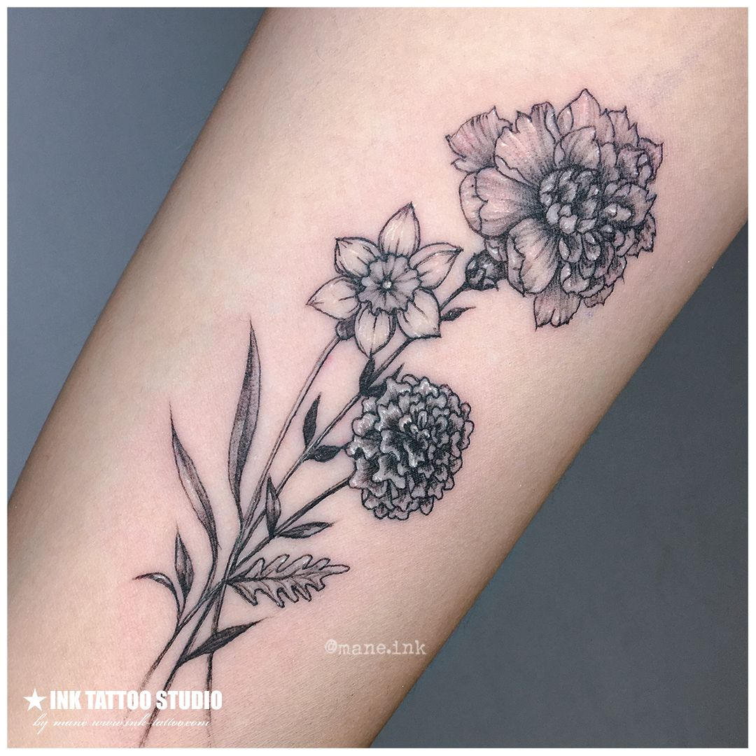 Small Narcissus Flower Tattoo Daisy Tattoo Family Flowers