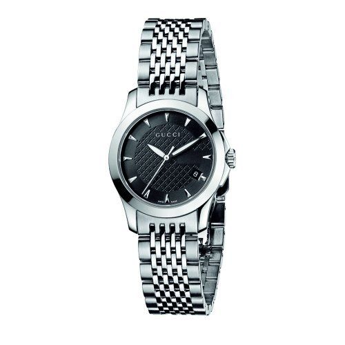 Gucci Women s YA G Timeless Black Dial Stainless Steel