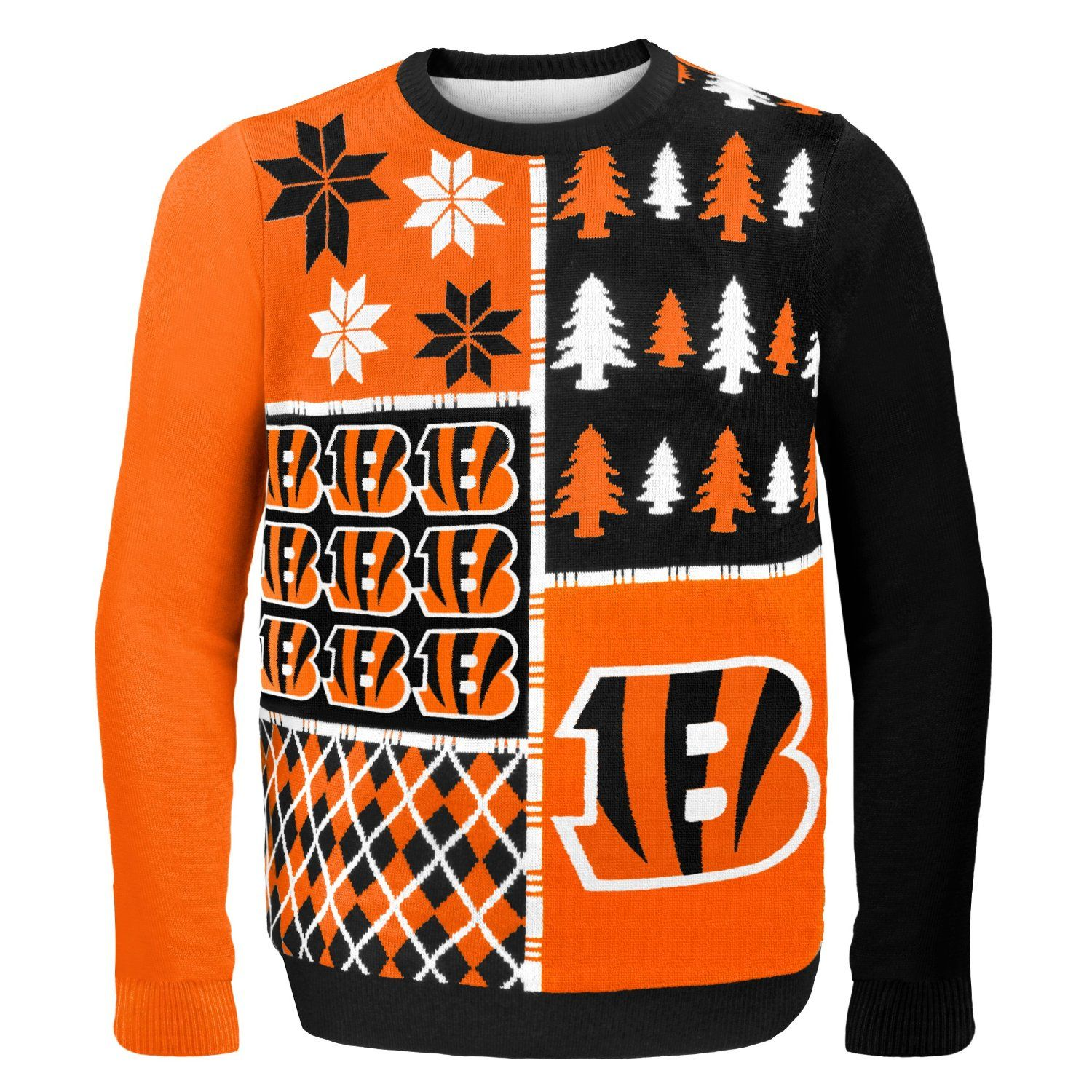 75210a5c315 NFL Busy Block Ugly Sweater – Cincinatti Bengals