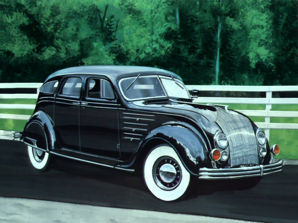 1934 Chrysler Airflow 4 Door Black Reminds Me Of Batman For Some