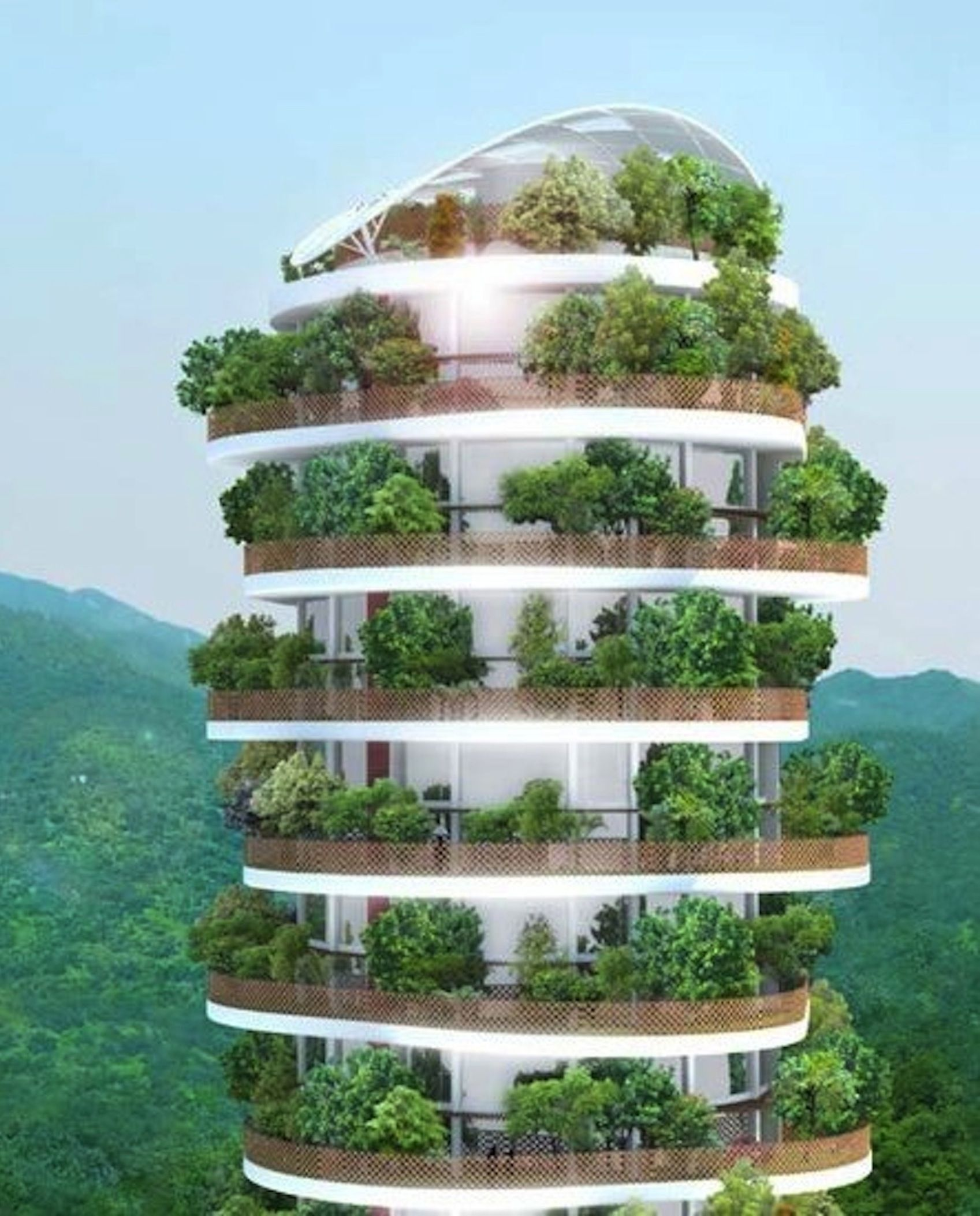 Home Design Ideas Hong Kong: Green Architecture, Modern Tree