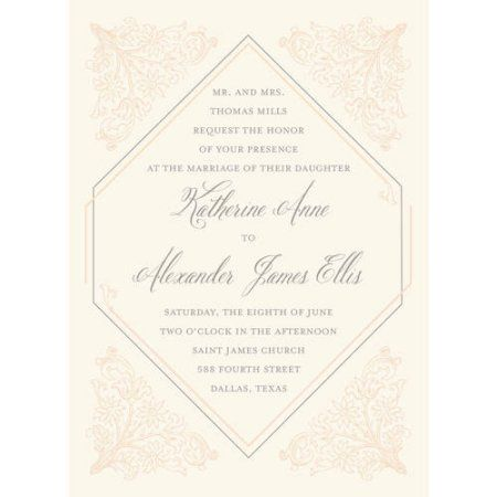 deco standard wedding invitation orange walmart free shipping
