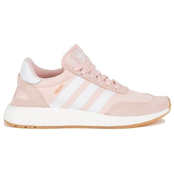 new product c94b9 4d8d9 Adidas Womens Iniki Runner W (678755 PYG) ❤ liked on Polyvore featuring  shoes, athletic shoes, striped shoes, pink shoes, pink athletic shoes, ...