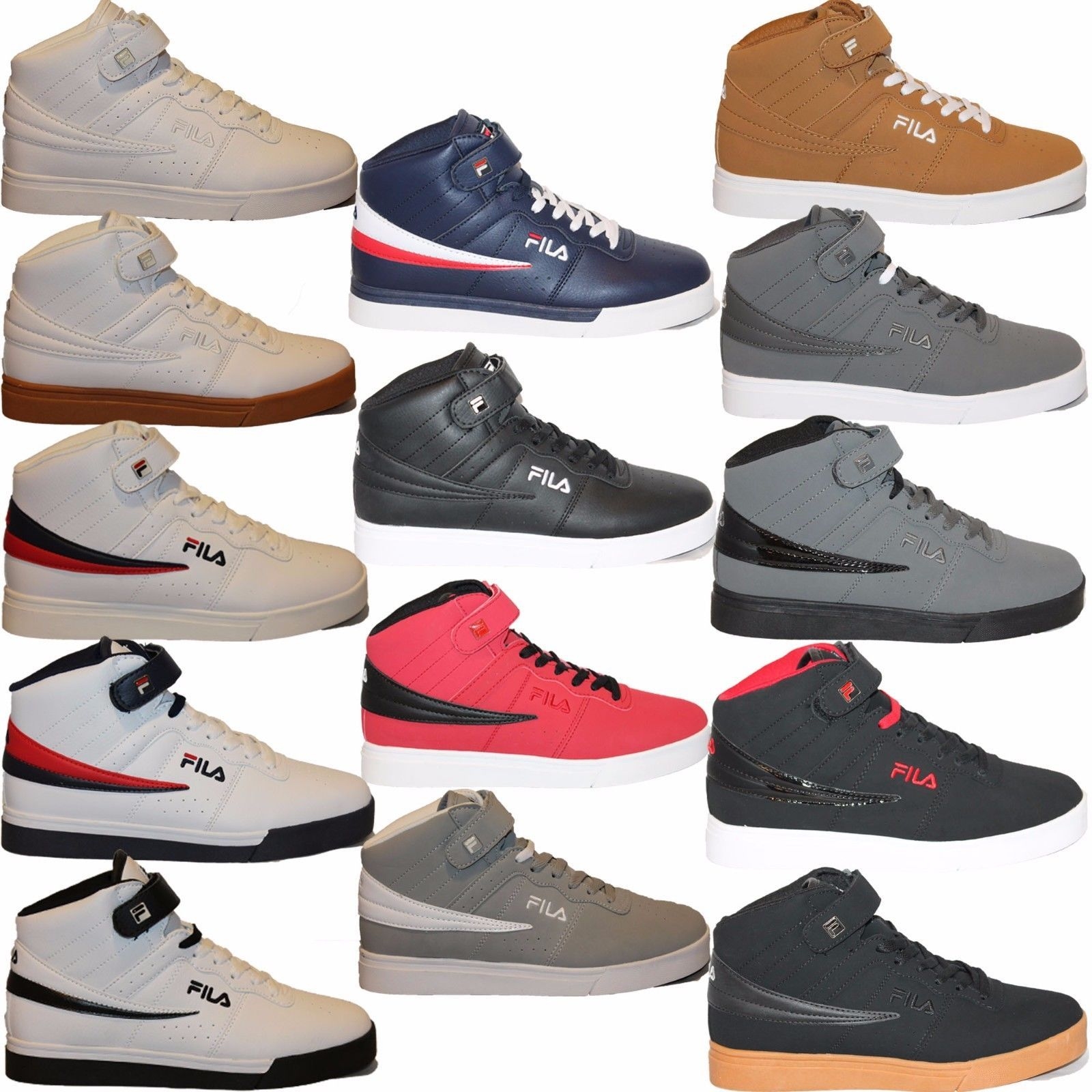 Casual 24087: Mens Fila Vulc 13 Mid Plus Suede Leather Mid
