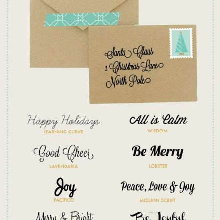 8 Free Script Fonts for Christmas Envelopes & Letters