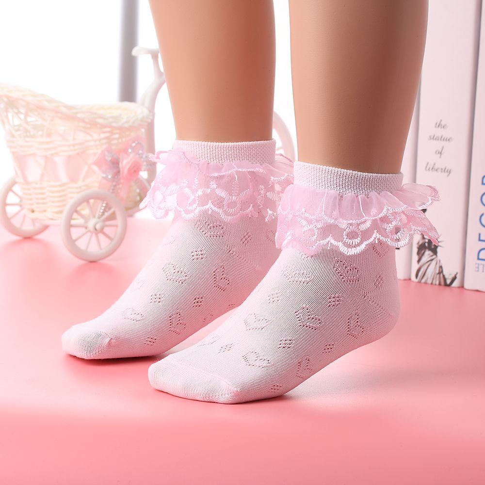 Baby Girls Kids Children Princess Casual Cotton Lace Mesh Breathable Ankle Socks
