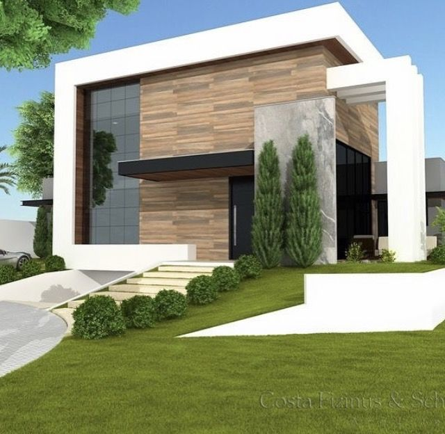 Façade Maison, Maison Moderne, Idées Pour La Maison, Permis De Construire,  Chalet Contemporain, Architectes Paysagistes, Villa Contemporaine, ...