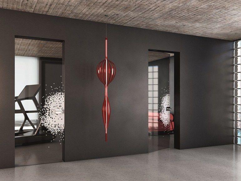 Puerta batiente a ras de pared de vidrio sin marco VITRUM-LINE ...