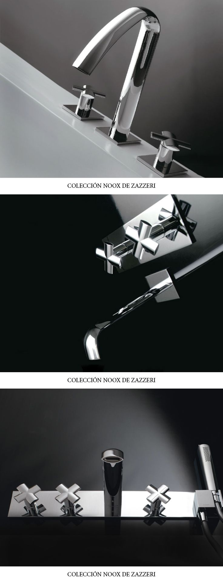 Colección Noox de Zazzeri. #griferia #zazzeri #inardi #design