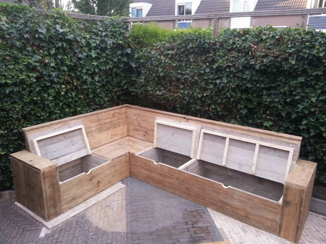Cool idea to build in deck seating with storage or built in coolers in it.