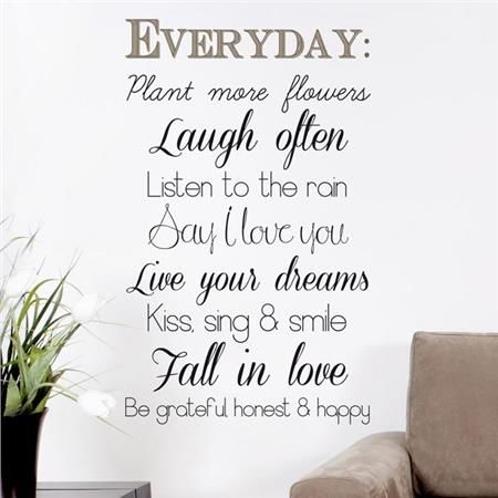 Everyday Wall Quote Home D Cor Line Wall Decals Home Quotes And Sayings Wall Quotes Decals Inspirational Wall Quotes