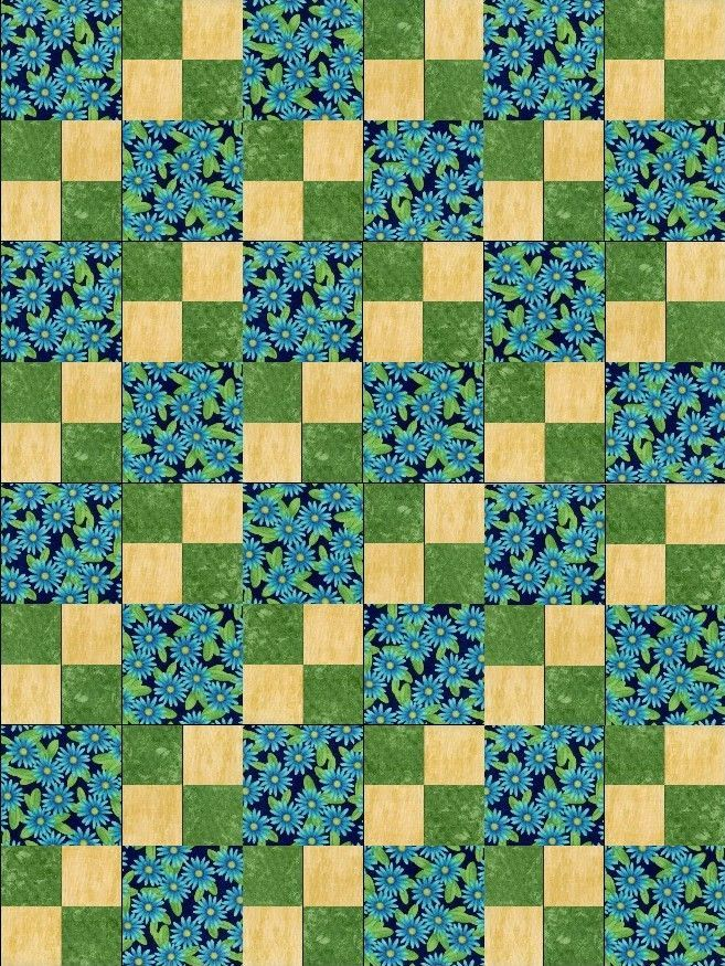 Daisies Blue Pre-Cut Quilt Blocks Kit | Products | Pinterest ... : pre cut quilt kits for beginners - Adamdwight.com