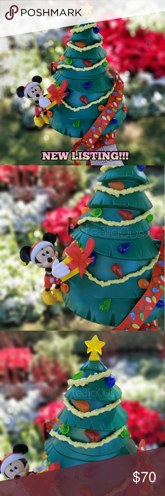 Disney mickey light up tree popcorn bucket nwt | Light up tree, Holiday colors, Disney holiday