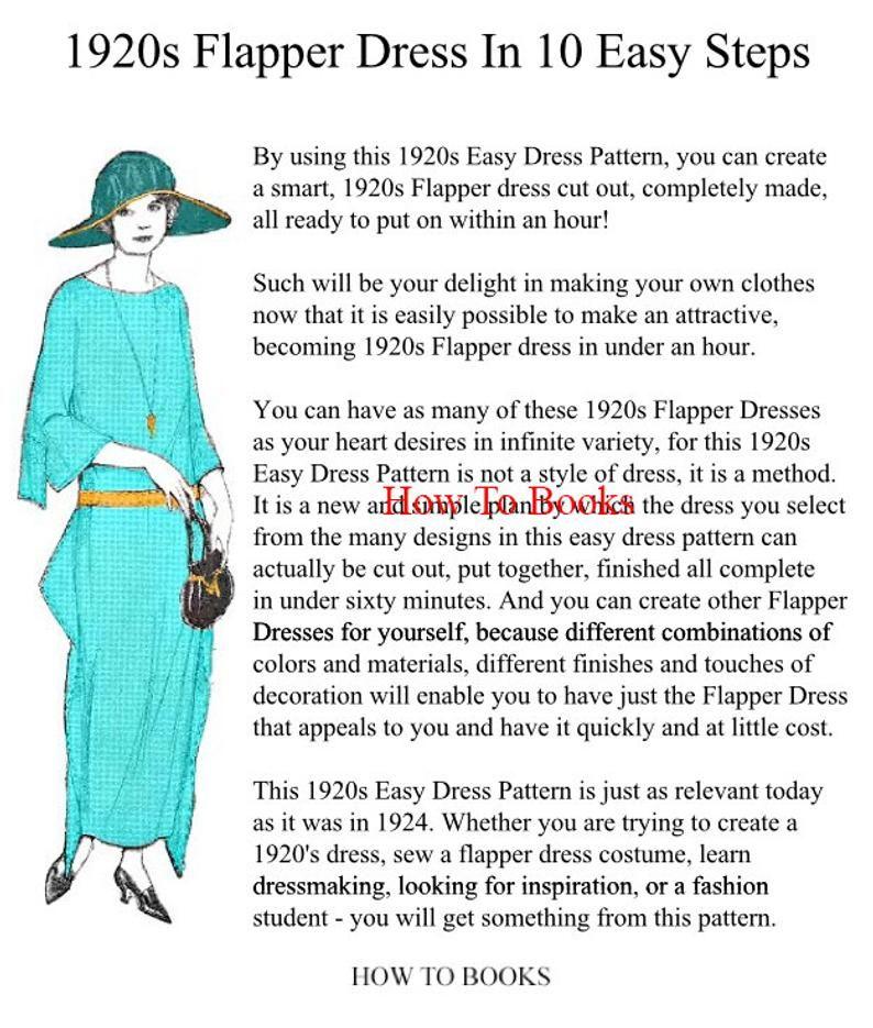 Easy 1 Hour Art Deco Dress Pattern Create A Vintage Downton Etsy In 2020 Art Deco Dress Deco Dress Simple Dress Pattern