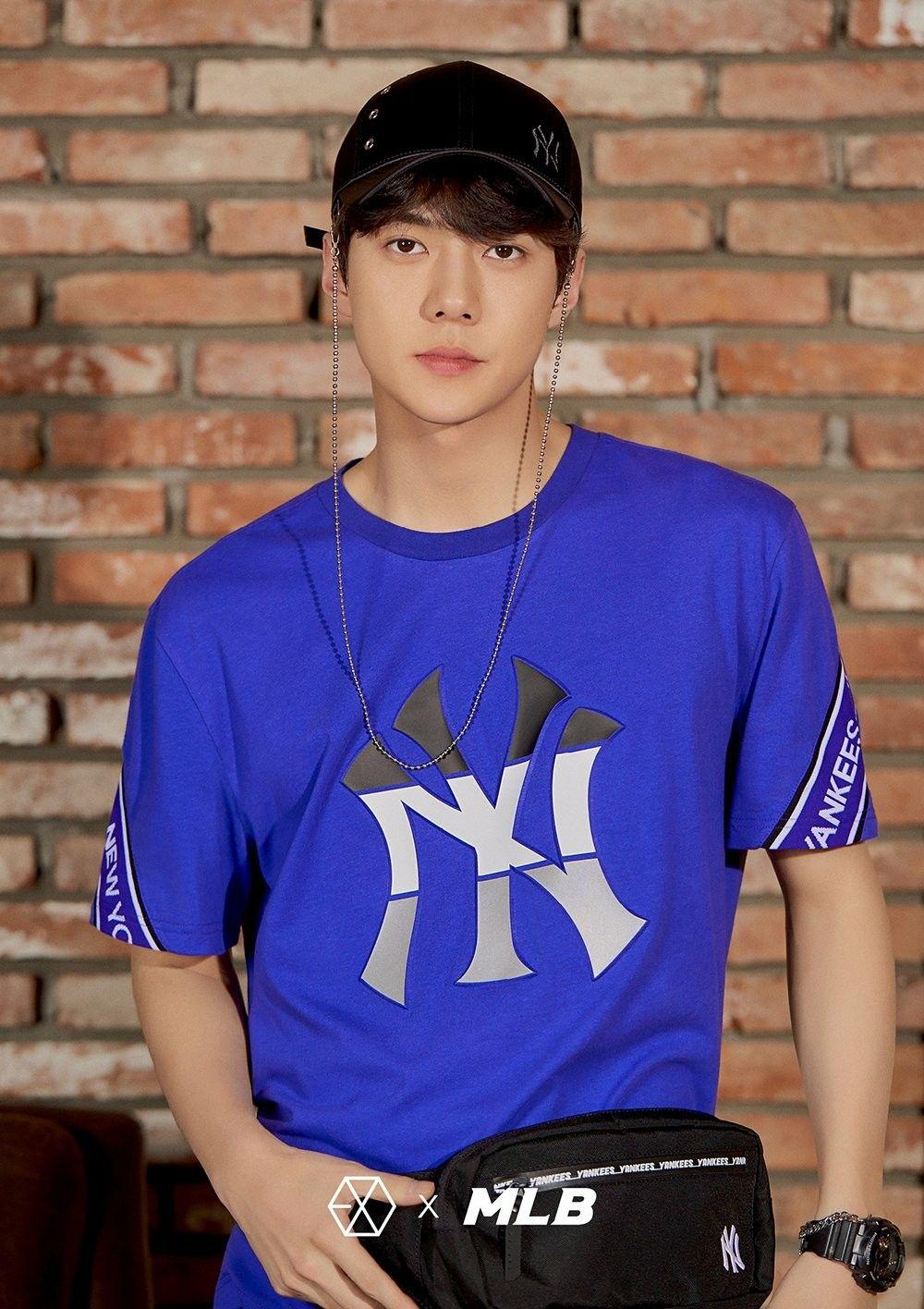 180313 Exo Sehun Mlb Official Website Mlb X Exo Selebritas Sehun Baekhyun