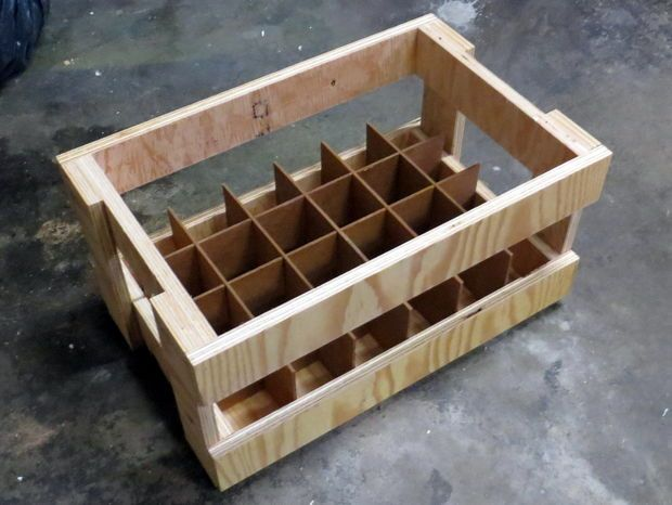 """#DIY Plywood #craftbeer crate www.LiquorList.com """"The Marketplace for Adults with Taste!"""" @LiquorListcom #LiquorList Come and see our new website at bakedcomfortfood.com!"""