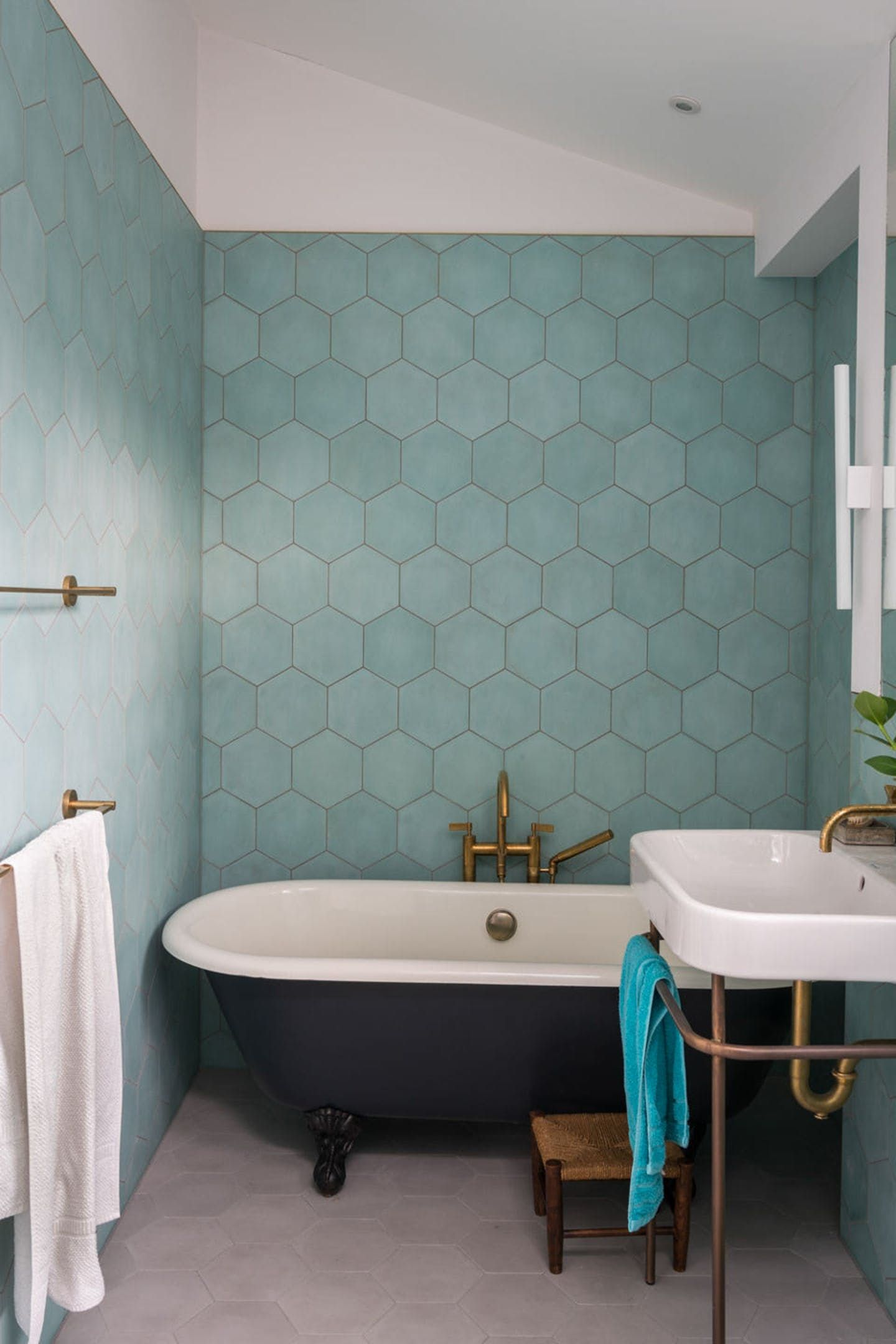 Light Blue Aqua Hexagon Tile Hex