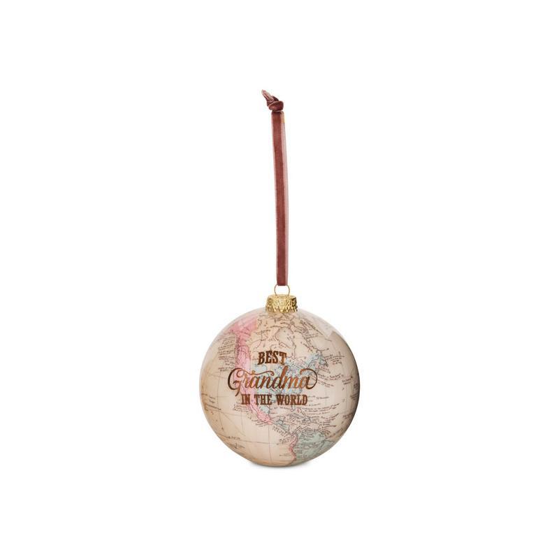 Best grandma in the world globe ornament globe ornament