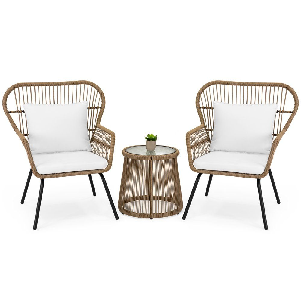 Best Choice Products 3Piece Patio Wicker Conversation