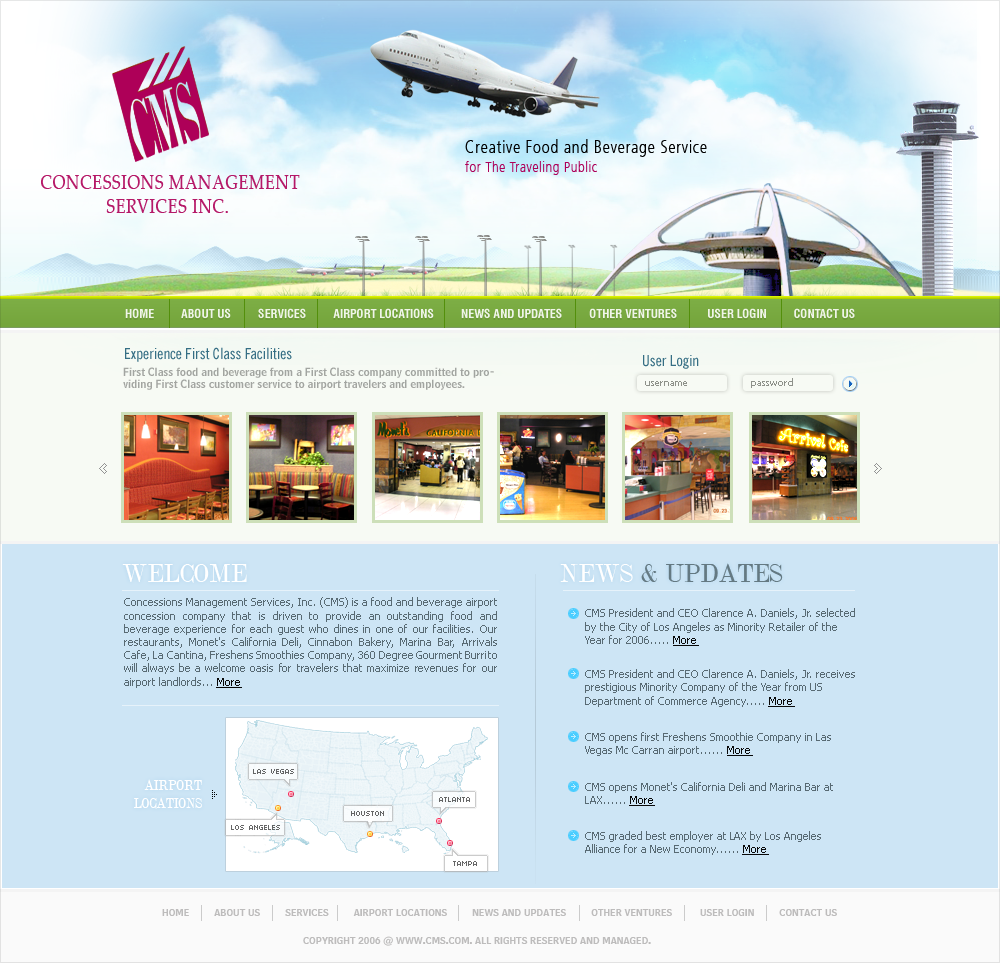 CMS Hospitality, Inc., a certified Airport Concessions Disadvantaged ...