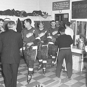 Red Wings Enter The Distinctive Home Dressing Room At