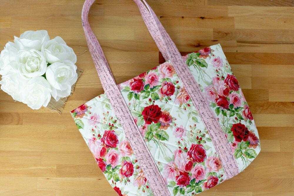 Sew Easy Big Tote Bag - free sewing tutorial | Sewing patterns ...