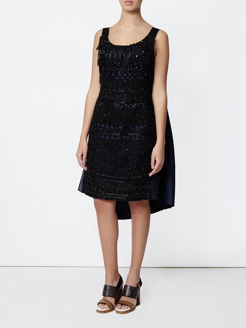 Oscar de la Renta embellished guipure lace dress