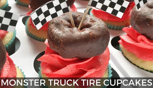 DIY Monster Truck Tire Cupcakes