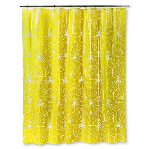 Room EssentialsTM PEVA Geometric Shower Curtain