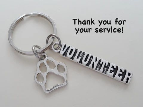 BLEOUK Great VolunteerVolunteer Gift Volunteer Appreciation Gift Volunteer Keychain Thank You Gift for Volunteer Social Worker Gift Volunteer Retirement Gift