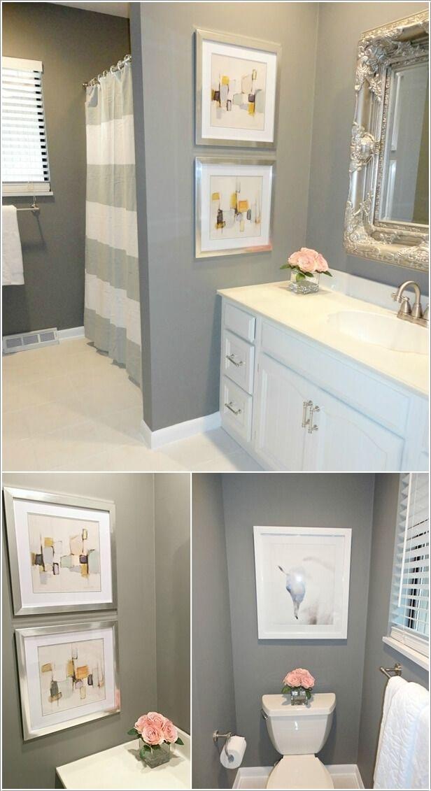 10 Creative Diy Bathroom Wall Decor