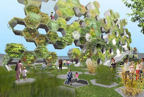 Efgh Rosario 3d Garten Billboard Park Architectural Design Studio Vertical Garden Eco Design