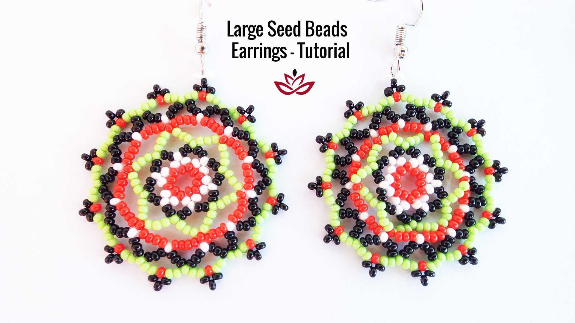 Large Seed Beads Earrings Tutorial How To Make Diy Seed Beads