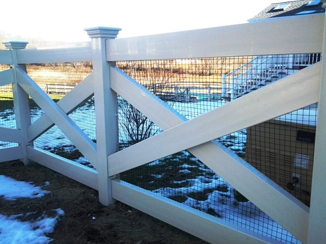 Cross-Buck Vinyl Post and Rail Fence