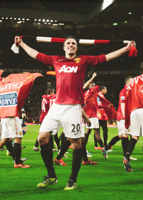 cedf11e87ca Robin Van Persie- somebody had to step up for Manchester United when Rooney  got injured