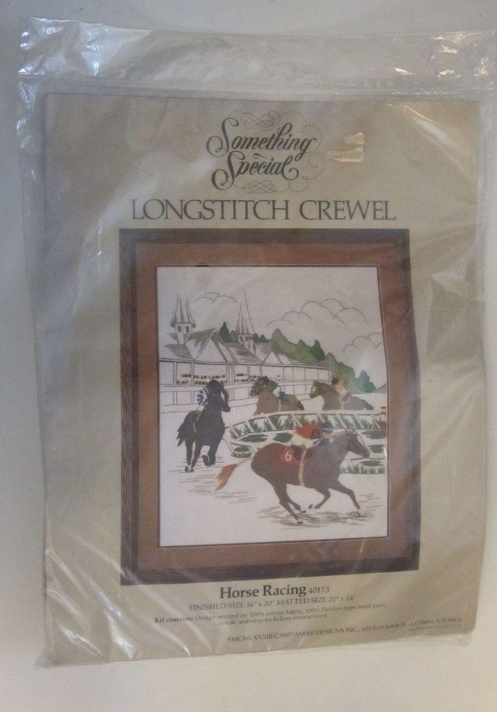 Horse Racing Longstitch Crewel Kit 40173 Candamar Something