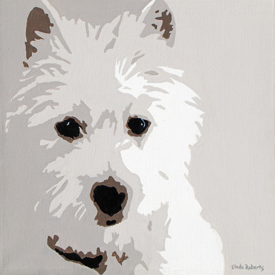Westie Painting Westie By Slade Roberts Dog Art Dog Pop Animal Art