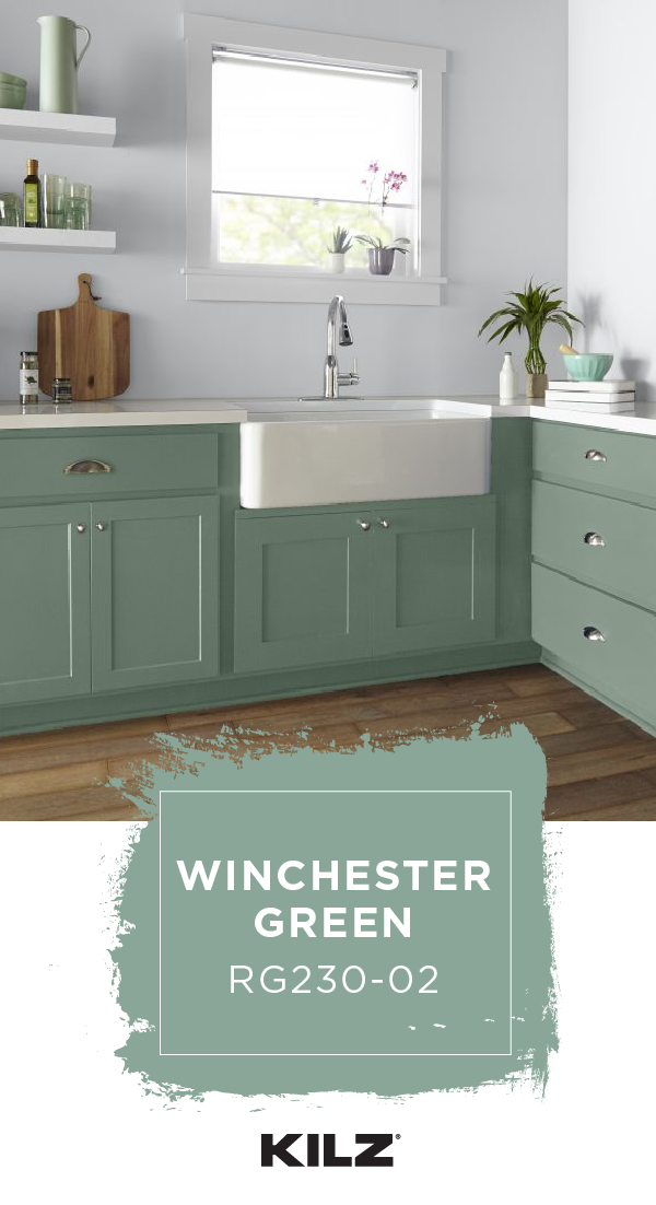 Bringing A Cool Pop Of Color To This Mid Century Modern Kitchen Kilz Complete Coat Paint Primer In O Paint For Kitchen Walls Grey Walls Kitchen Wall Colors