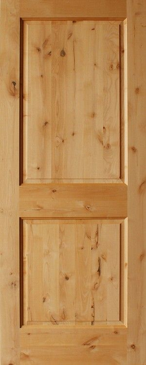 2 Panel Square Top Rail Rustic Doors Knotty Alder Doors Knotty Pine Doors