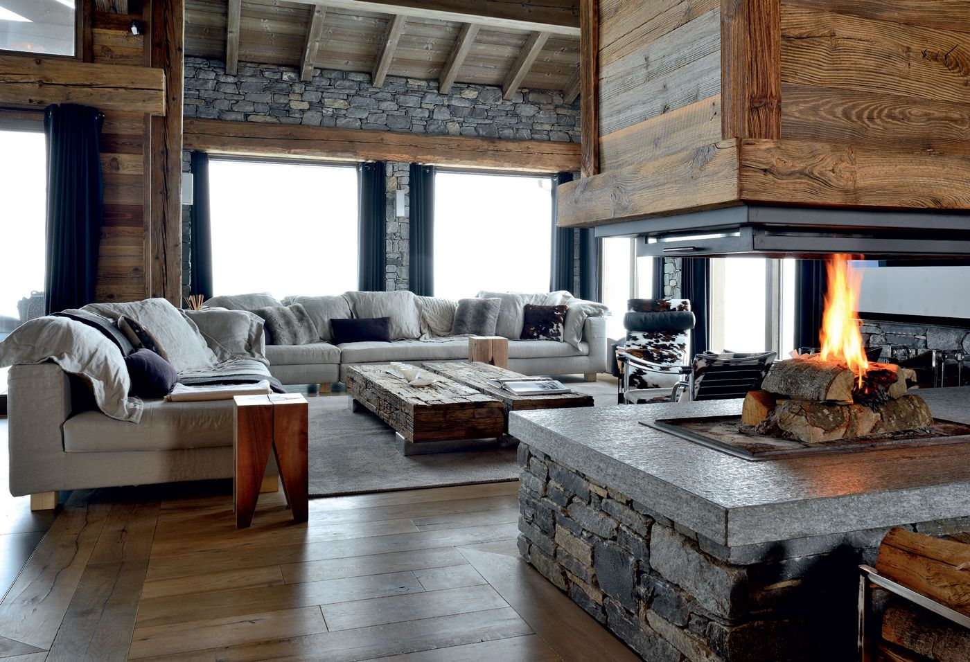 un chalet familial sur 5 niveaux en savoie id es d co. Black Bedroom Furniture Sets. Home Design Ideas