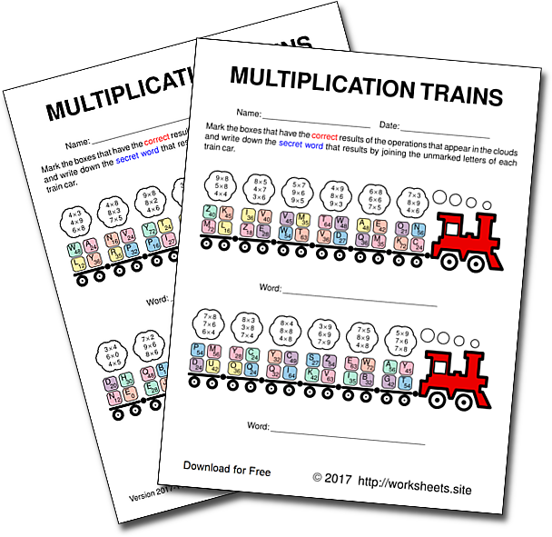 Multiplication Games For Kids Free Printable Multiplication Games