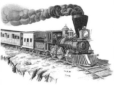 Large Coal Steam Freight Train Vintage Railway Wall Poster Art Picture Print