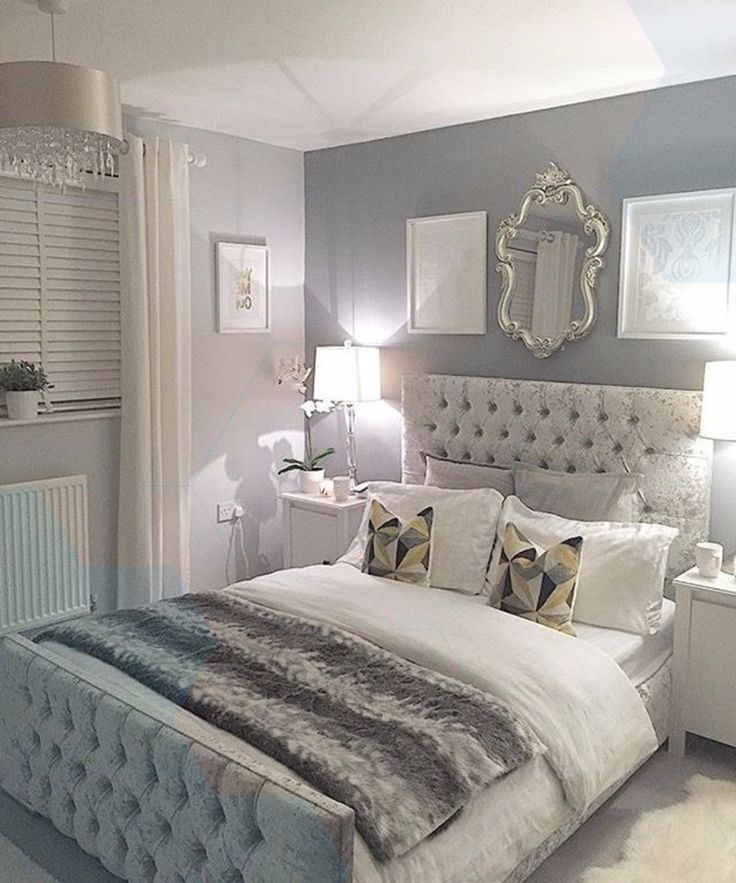 Magnificent Bedroom Inspiration In Silver #bedroom