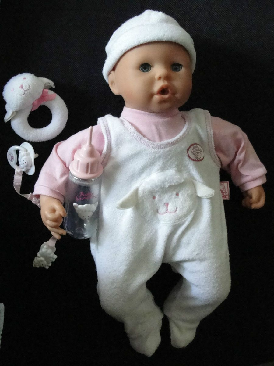 19 baby annabell doll by zapf creations 2002 with pacifier. Black Bedroom Furniture Sets. Home Design Ideas